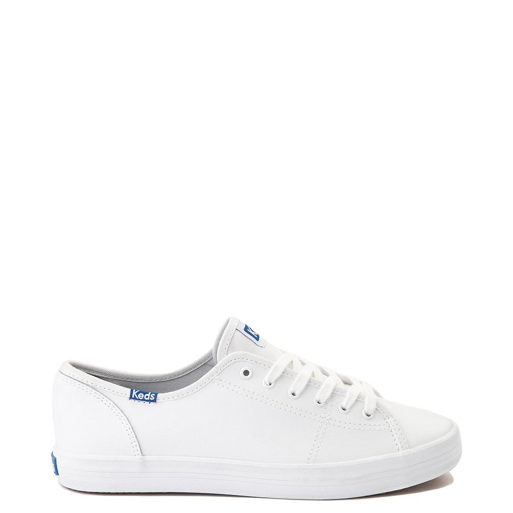 Womens Keds Kickstart Leather Casual Shoe - White