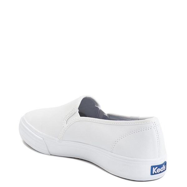 alternate image alternate view Womens Keds Double Decker Leather Slip On Casual Shoe - WhiteALT2