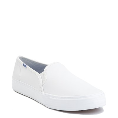 Alternate view of Womens Keds Double Decker Leather Slip On Casual Shoe - White