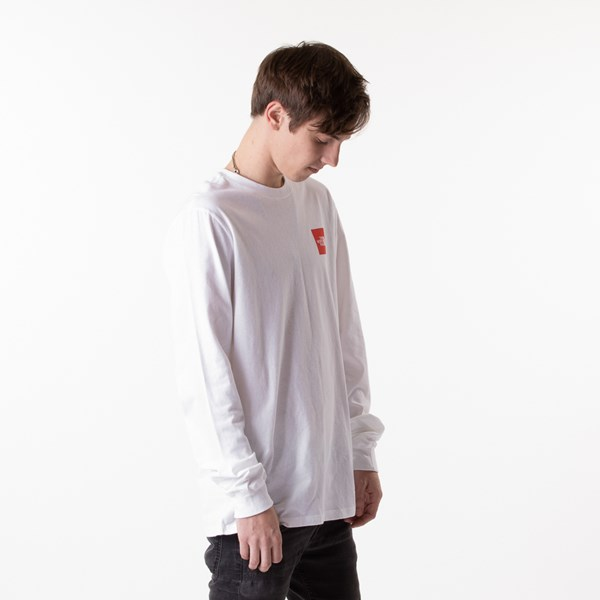 alternate image alternate view Mens The North Face Red Box Long Sleeve Tee - White / RedALT2