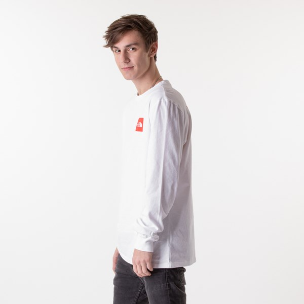 alternate image alternate view Mens The North Face Red Box Long Sleeve Tee - White / RedALT3