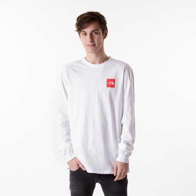 Alternate view of Mens The North Face Red Box Long Sleeve Tee - White / Red