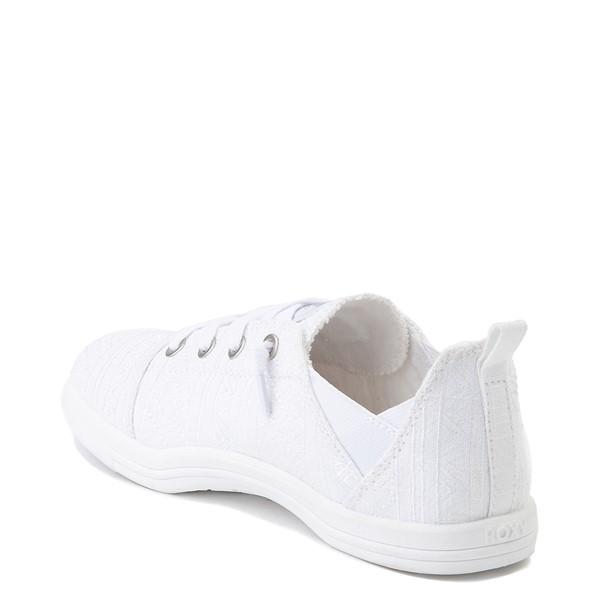 alternate image alternate view Womens Roxy Libbie Slip On Casual Shoe - WhiteALT1