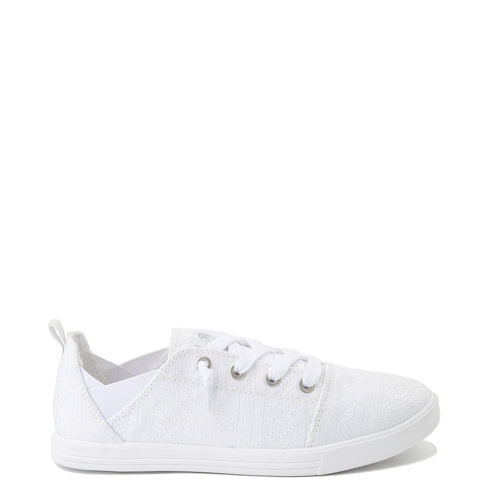 Womens Roxy Libbie Slip On Casual Shoe - White