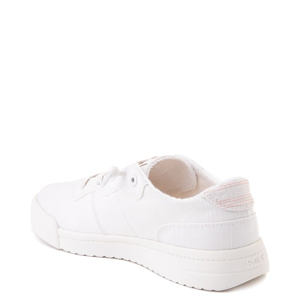 alternate image alternate view Womens Roxy Cannon Casual Shoe - WhiteALT2