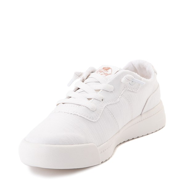 alternate image alternate view Womens Roxy Cannon Casual Shoe - WhiteALT3