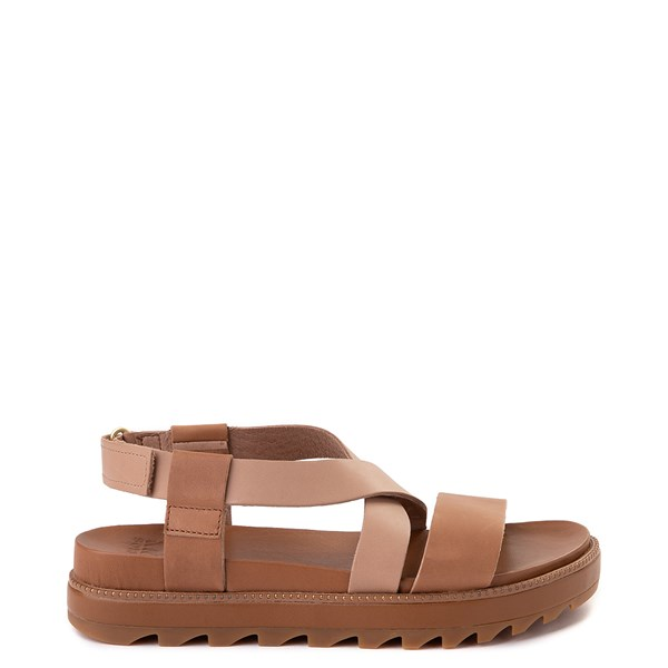Womens Sorel Roaming™ Criss Cross Sandal - Camel Brown