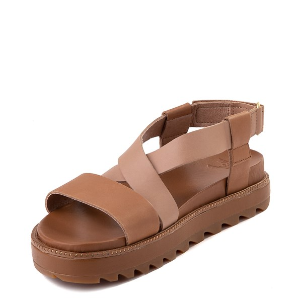 alternate image alternate view Womens Sorel Roaming™ Criss Cross Sandal - Camel BrownALT3