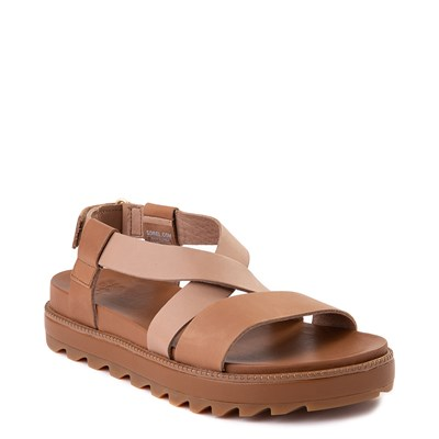 Alternate view of Womens Sorel Roaming™ Criss Cross Sandal - Camel Brown
