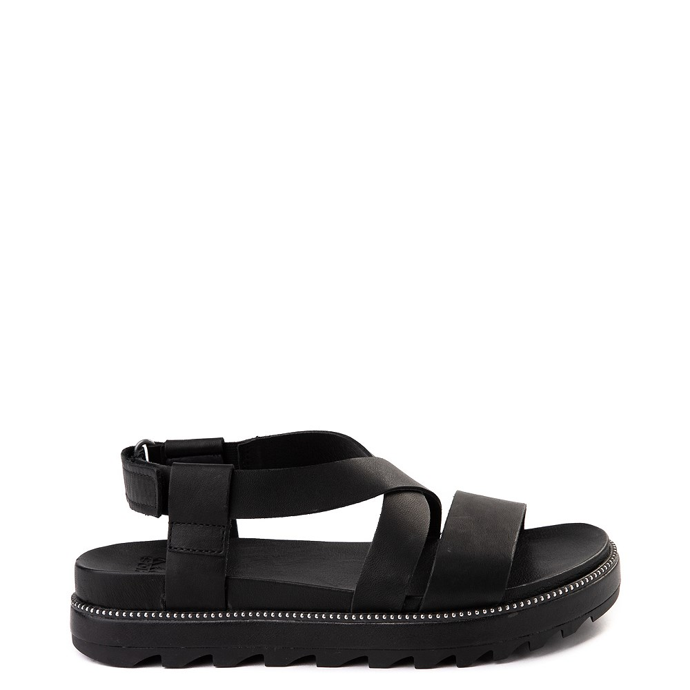 Womens Sorel Roaming™ Criss Cross Sandal - Black