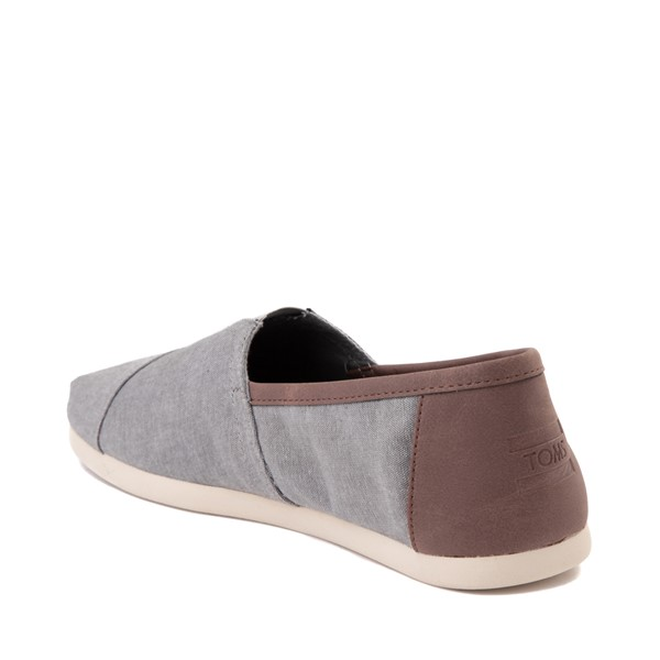 alternate image alternate view Mens TOMS Classic Slip On Casual Shoe - GreyALT1