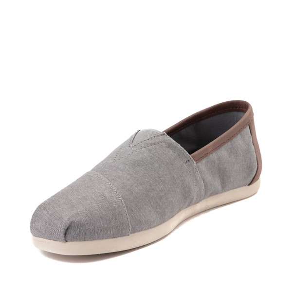 alternate image alternate view Mens TOMS Classic Slip On Casual Shoe - GreyALT2