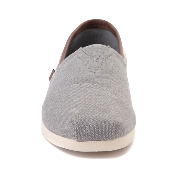alternate image alternate view Mens TOMS Classic Slip On Casual Shoe - GreyALT4