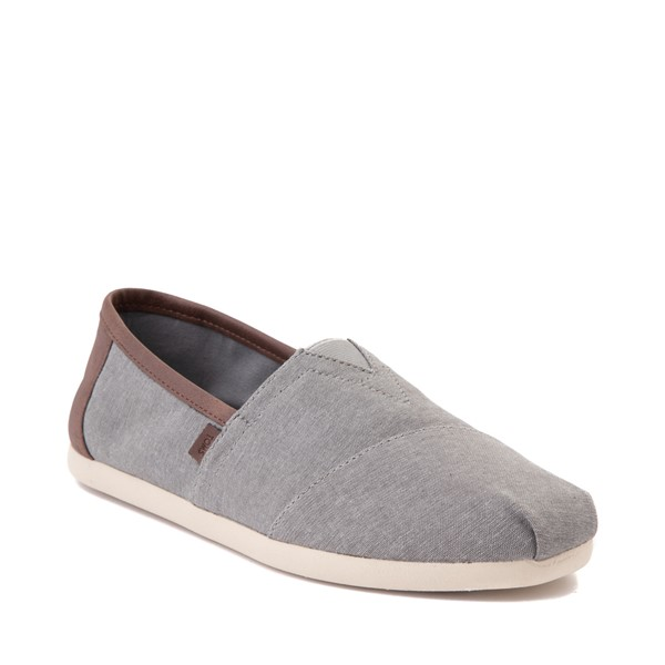 alternate image alternate view Mens TOMS Classic Slip On Casual Shoe - GreyALT5