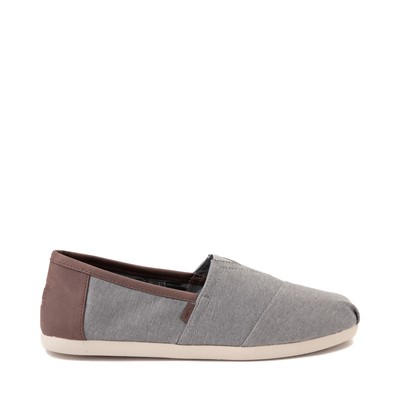 Main view of Mens TOMS Classic Slip On Casual Shoe - Grey