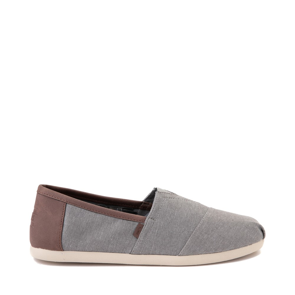 Mens TOMS Classic Slip On Casual Shoe - Grey