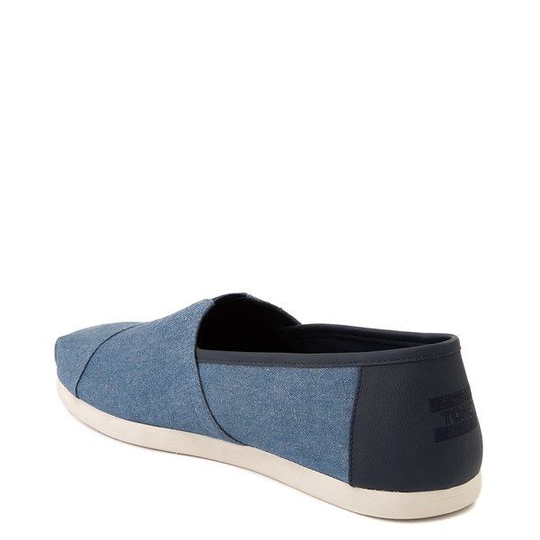 alternate image alternate view Mens TOMS Classic Slip On Casual Shoe - DenimALT2