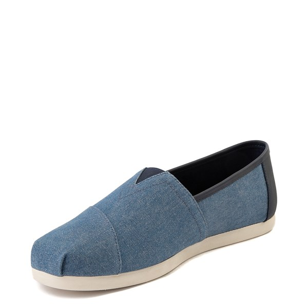 alternate image alternate view Mens TOMS Classic Slip On Casual Shoe - DenimALT3