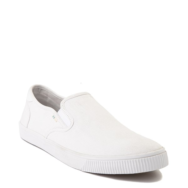 alternate image alternate view Mens TOMS Baja Slip On Casual Shoe - WhiteALT1