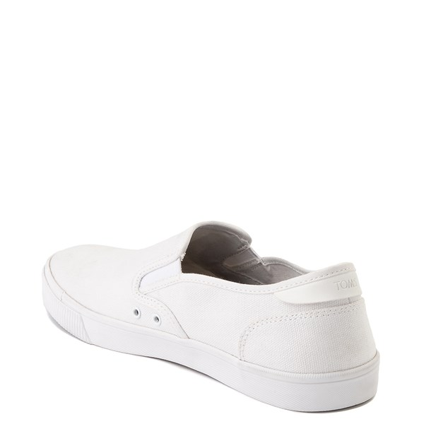 alternate image alternate view Mens TOMS Baja Slip On Casual Shoe - WhiteALT2