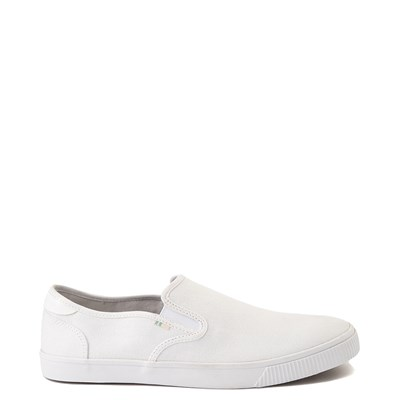 Main view of Mens TOMS Baja Slip On Casual Shoe - White