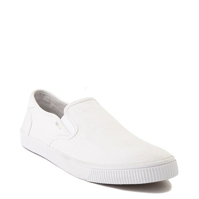 Alternate view of Mens TOMS Baja Slip On Casual Shoe - White
