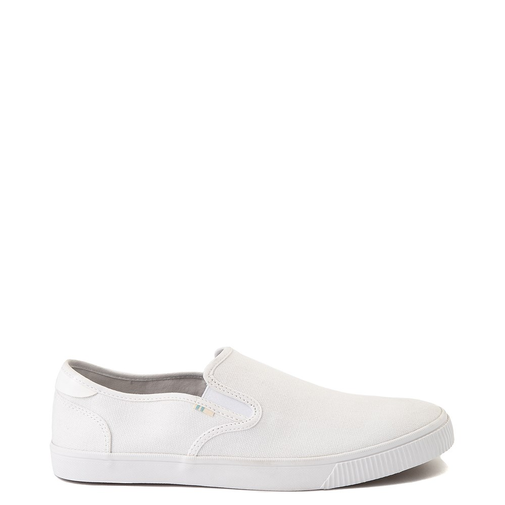 Mens TOMS Baja Slip On Casual Shoe - White