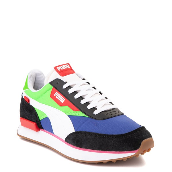 alternate image alternate view Mens Puma Future Rider Play On Athletic Shoe - Black / Blue / Green / RedALT1