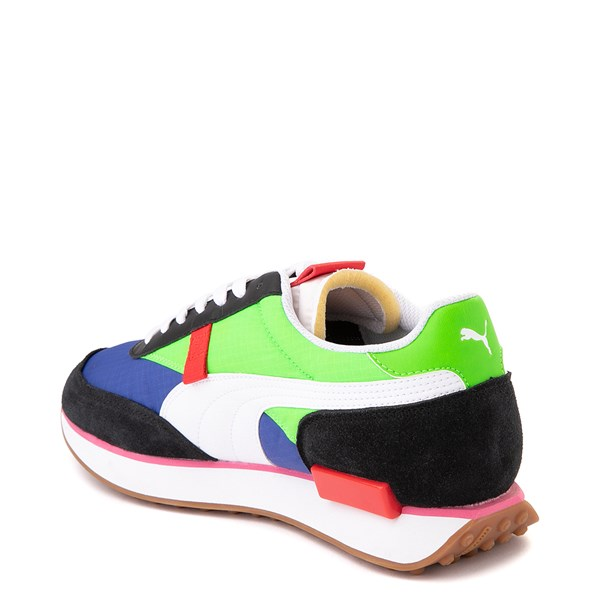 alternate image alternate view Mens Puma Future Rider Play On Athletic Shoe - Black / Blue / Green / RedALT2