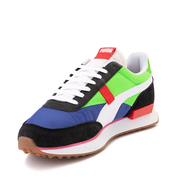 alternate image alternate view Mens Puma Future Rider Play On Athletic Shoe - Black / Blue / Green / RedALT3