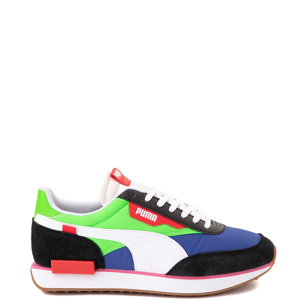 Mens Puma Future Rider Play On Athletic Shoe - Black / Blue / Green / Red