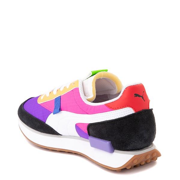 alternate image alternate view Womens Puma Rider Athletic Shoe - Black / Purple / PinkALT1