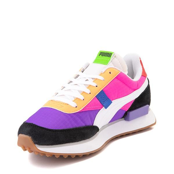 alternate image alternate view Womens Puma Rider Athletic Shoe - Black / Purple / PinkALT2