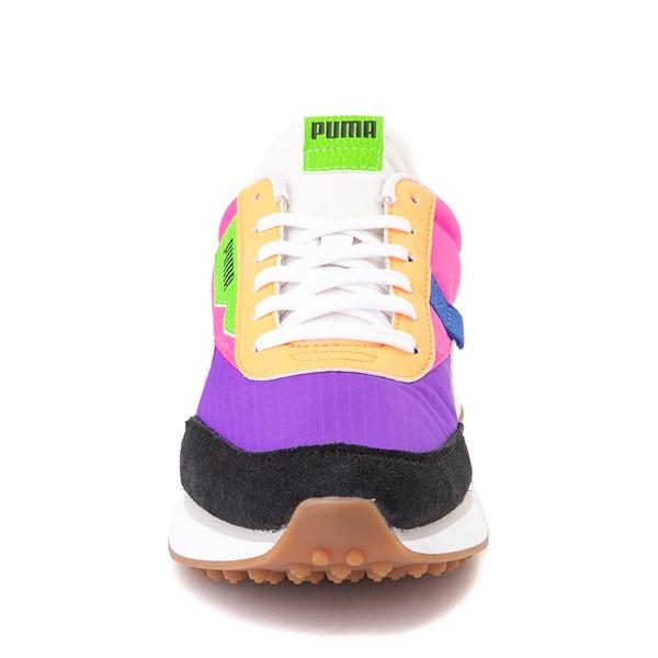 alternate image alternate view Womens Puma Rider Athletic Shoe - Black / Purple / PinkALT4