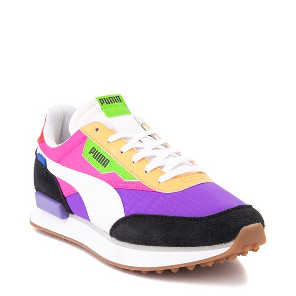 alternate image alternate view Womens Puma Rider Athletic Shoe - Black / Purple / PinkALT5