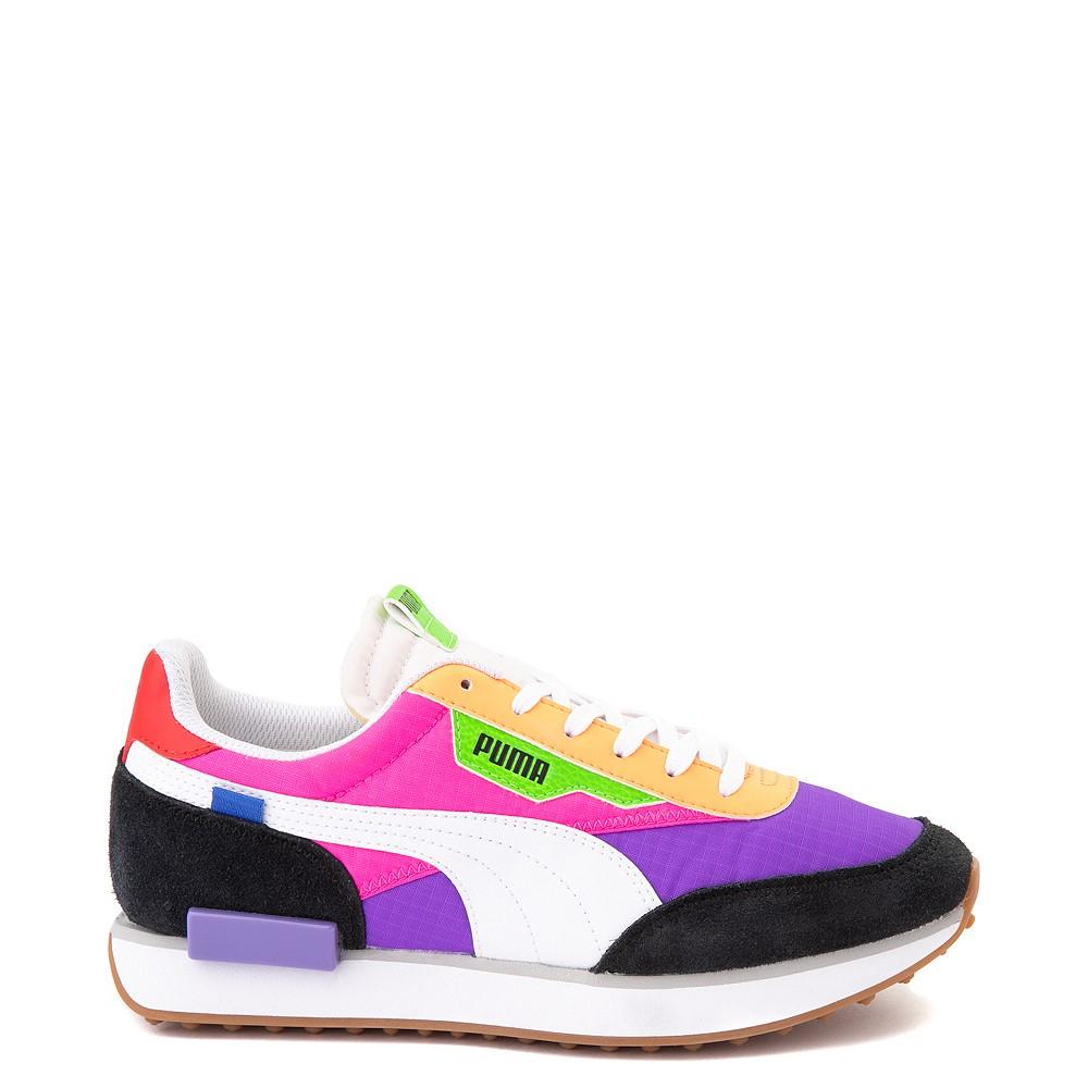 Womens Puma Rider Athletic Shoe - Black / Purple / Pink