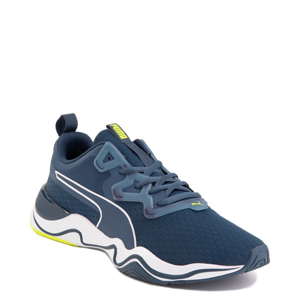 alternate image alternate view Mens Puma Zone XT Athletic Shoe - Dark Denim / Yellow AlertALT1