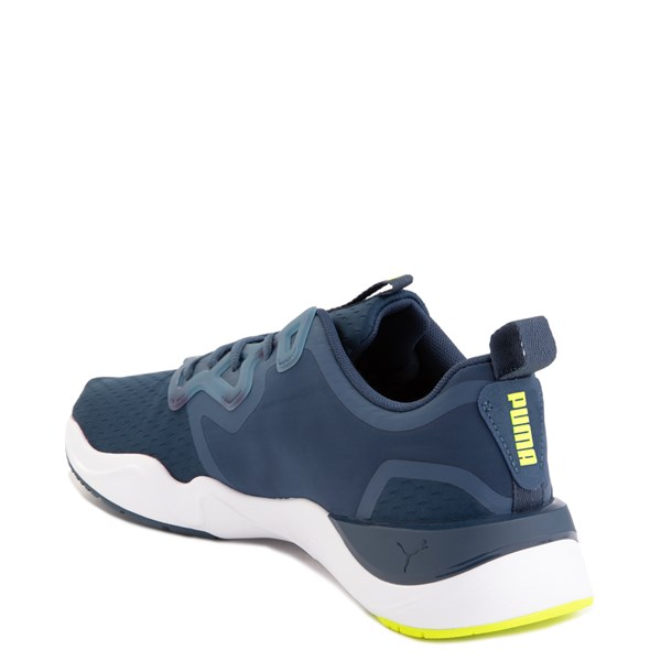 alternate image alternate view Mens Puma Zone XT Athletic Shoe - Dark Denim / Yellow AlertALT2