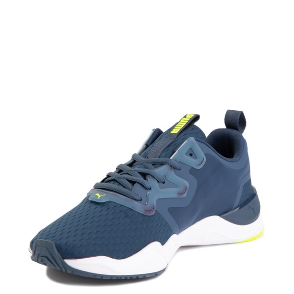 alternate image alternate view Mens Puma Zone XT Athletic Shoe - Dark Denim / Yellow AlertALT3