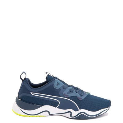 Main view of Mens Puma Zone XT Athletic Shoe - Dark Denim / Yellow Alert