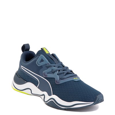 Alternate view of Mens Puma Zone XT Athletic Shoe - Dark Denim / Yellow Alert