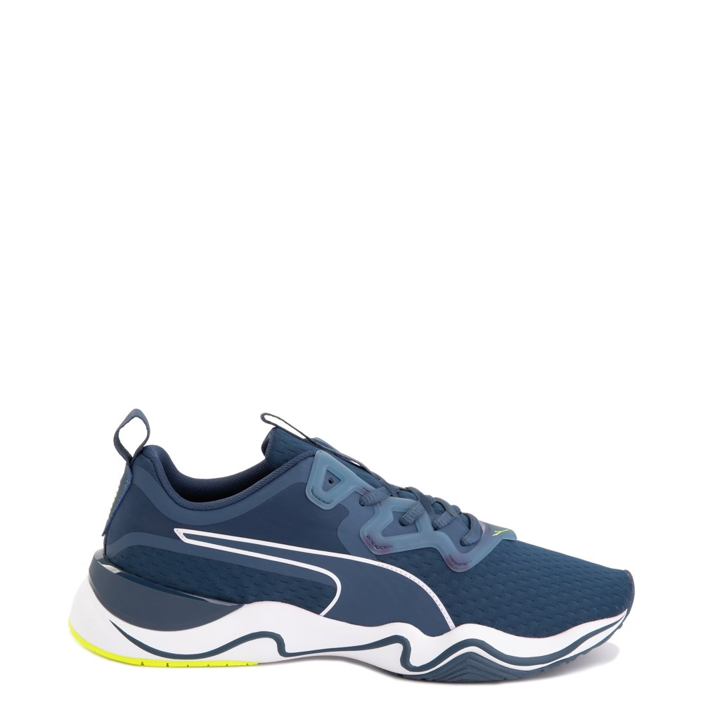 Mens Puma Zone XT Athletic Shoe - Dark Denim / Yellow Alert
