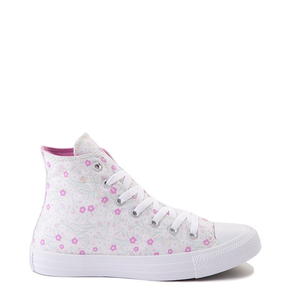 Main view of Womens Converse Chuck Taylor All Star Hi Floral Sneaker - White