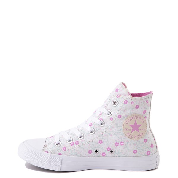 alternate image alternate view Womens Converse Chuck Taylor All Star Hi Floral Sneaker - WhiteALT1
