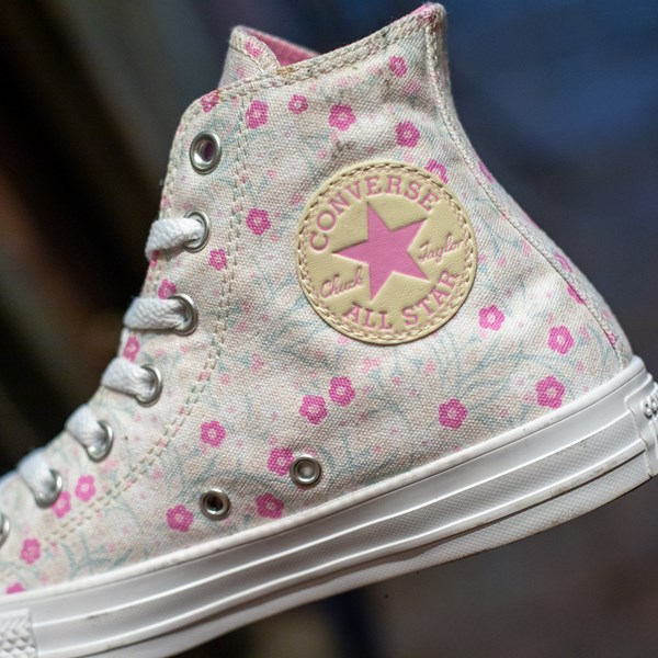alternate image alternate view Womens Converse Chuck Taylor All Star Hi Floral Sneaker - WhiteALT1B