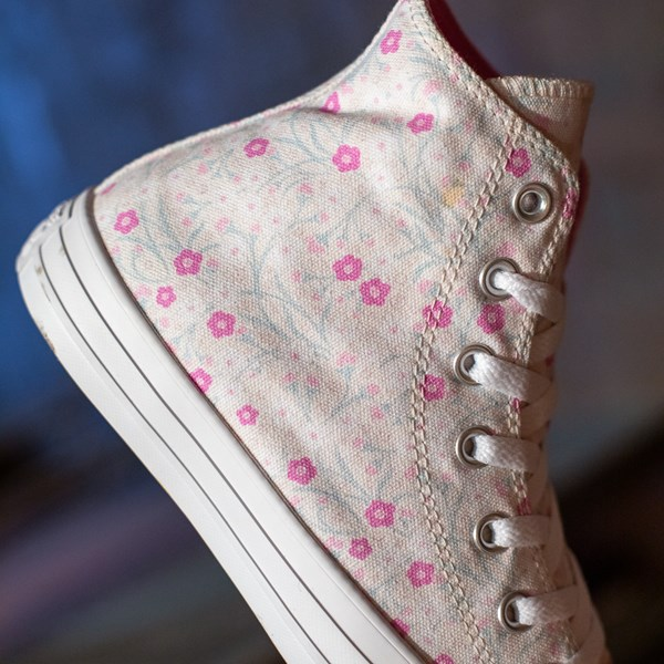 alternate image alternate view Womens Converse Chuck Taylor All Star Hi Floral Sneaker - WhiteALT1C