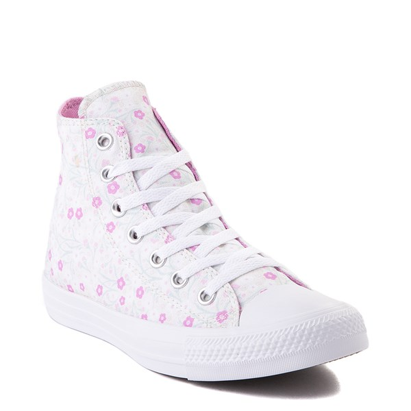 alternate image alternate view Womens Converse Chuck Taylor All Star Hi Floral Sneaker - WhiteALT1D