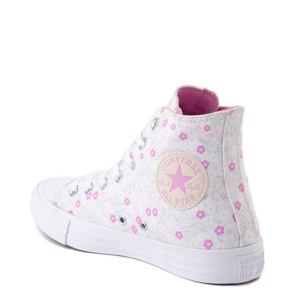 alternate image alternate view Womens Converse Chuck Taylor All Star Hi Floral Sneaker - WhiteALT2