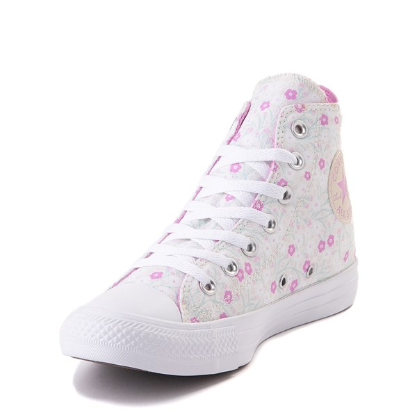 alternate image alternate view Womens Converse Chuck Taylor All Star Hi Floral Sneaker - WhiteALT3