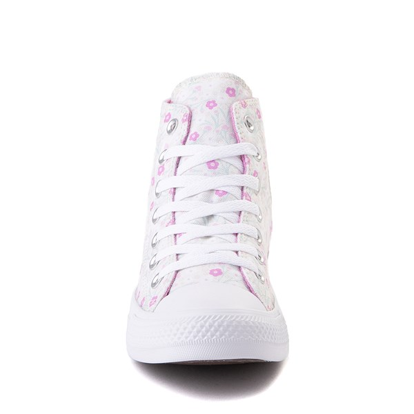alternate image alternate view Womens Converse Chuck Taylor All Star Hi Floral Sneaker - WhiteALT4